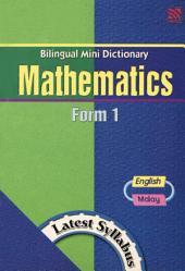 Bilingual Mini Dictionary Mathematics Form 1