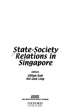 State society Relations in Singapore PDF