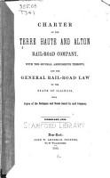Charter of the Terre Haute and Alton Rail road Company PDF