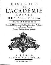 Histoire de l'Académie Royale des Sciences: avec les mémoires de mathématique et de physique pour la même année : tirés des registres de cette Académie. 1784 (1787)