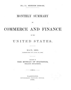 Monthly Summary of Commerce and Finance of the United States PDF