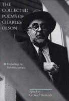 The Collected Poems of Charles Olson PDF