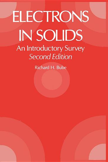 Electrons in Solids 2e PDF