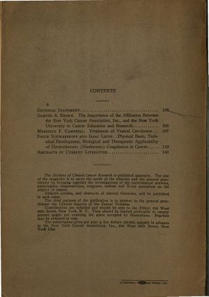 Archives of Clinical Cancer Research PDF