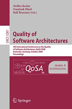 Quality of Software Architectures Models and Architectures PDF