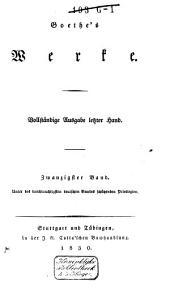 Goethe's Werke: Band 20