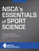 NSCA s Essentials of Sport Science PDF