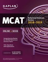 MCAT Behavioral Sciences Review 2018 2019 PDF