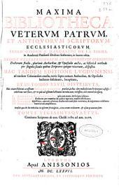 Maxima bibliotheca veterum patrum et antiquorum scriptorum ecclesiasticorum