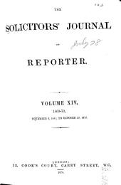 The Solicitors' Journal and Reporter: Volume 14