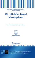 Microfluidics Based Microsystems PDF
