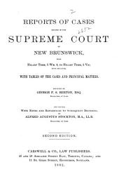 Reports of Cases: Determined in the Supreme Court of New Brunswick, Volume 2