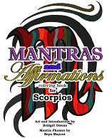 Mantras and Affirmations Coloring Book for Scorpios