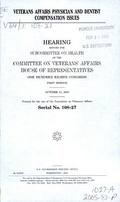 Veterans Affairs Physician and Dentist Compensation Issues PDF