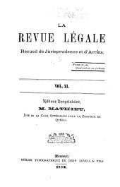 La Revue legale: Volume 11