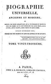 Biographie universelle, ancienne et moderne: Volume23