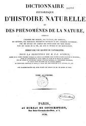 Dictionnaire Pittoresque D' Histoire Naturelle Et Des Phenomenes De La Nature