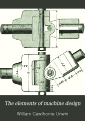 The Elements of Machine Design. ...: General principles, fastenings, and transmissive machinery. (New edition, revised and enlarged 1901.) 1908. xvi, 555, [1] p. 345 illus. incl. diagrs