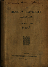 Glasgow University Calendar for the Year ...