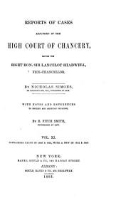 Reports of Cases Decided in the High Court of Chancery: With Notes and References to Both English and American Decisions, Volume 34