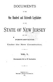 Documents of the ... Legislature of the State of New Jersey: Volume 5