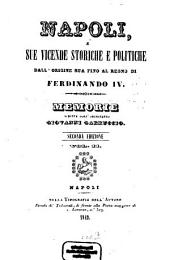 Napoli, e sue vicende storiche e politiche dall' origine sua fino al regno di Ferdinando IV.