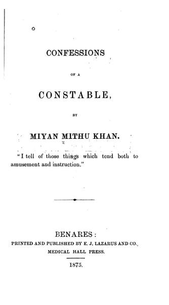 Download Confessions of a Constable Book