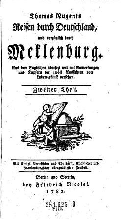 Reisen durch Deutschland  und vorz  glich durch Meklenburg  Aus dem Englischen   bers   etc   PDF