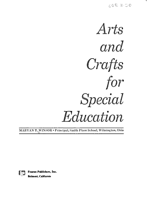 Arts and Crafts for Special Education