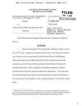 Affiliated Computer Services, Inc.: Securities and Exchange Commission Litigation Complaint