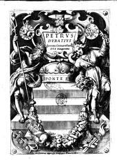 Petrus Duratius serenis. Genuensium dux inauguratus. Sponte su [!]