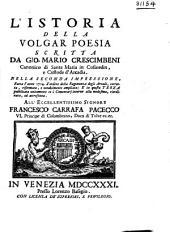 L'Istoria della Volgar Poesia: Volume 1