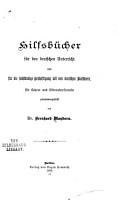 Hilfsb  cher f  r den deutschen Unterricht und f  r die selbst  ndige Besch  ftigung mit den deutschen Klassikern PDF