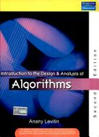 Introduction To Design And Analysis Of Algorithms  2 E PDF