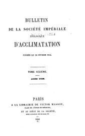 Bulletin de la Société impériale zoologique d'acclimatation: Volume6