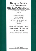 Global Perspectives in Early Childhood Education