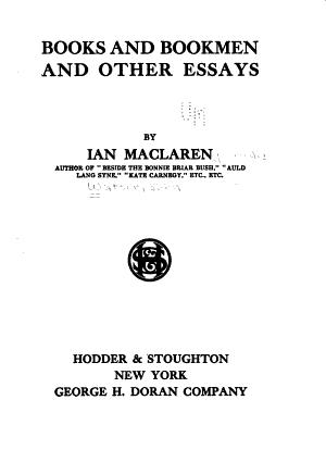 Books and Bookmen PDF