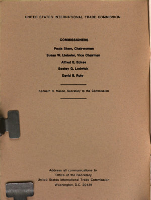 USITC Publication