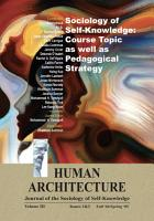 Sociology of Self Knowledge  Course Topic as well as Pedagogical Strategy PDF