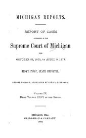 Michigan Reports. 1. VOL. 1-200 ONLY: Volume 26