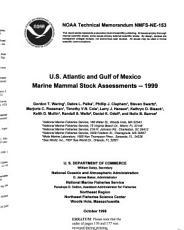 U S  Atlantic and Gulf of Mexico Marine Mammal Stock Assessments  1999 PDF