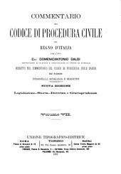 Commentario del Codice di procedura civile del regno d'Italia: Volume 7