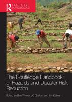 Handbook of Hazards and Disaster Risk Reduction and Management PDF