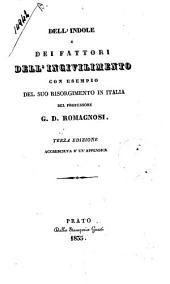 Dell'indole e dei fattori dell'incivilimento: con esempio del suo risorgimento in Italia
