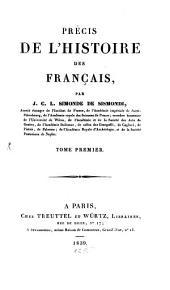 Précis de l'histoire des Français: Volume1