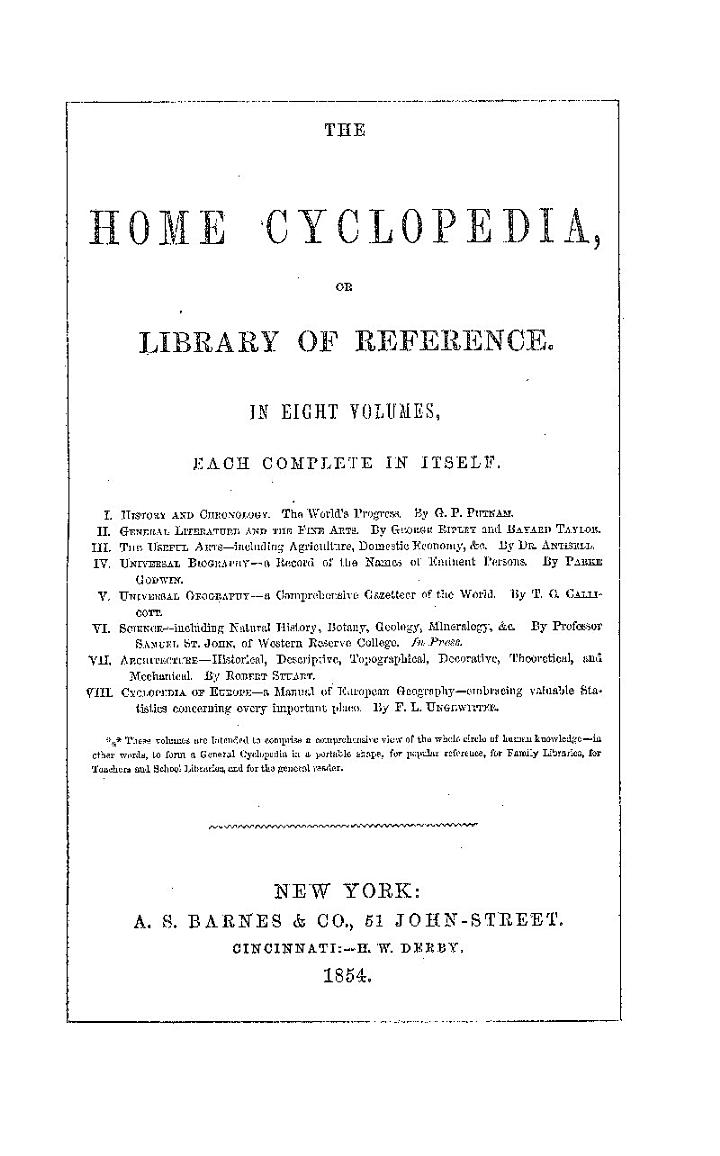 CYCLOPEDIA OF LITERATURE AND THE FINE ARTS