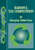 Harmful Tax Competition An Emerging Global Issue PDF