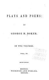 Plays and Poems: Volume 2
