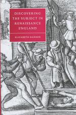 Discovering the Subject in Renaissance England