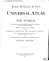 Rand  McNally   Co  s Universal Atlas of the World